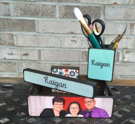 Personalized Desk Set created by Blocks From The Heart