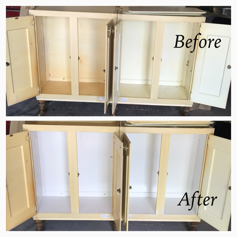 repurpose kitchen cabinets before and after