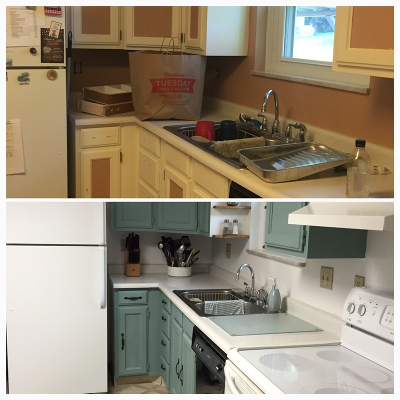 Cheap kitchen makeover before and after