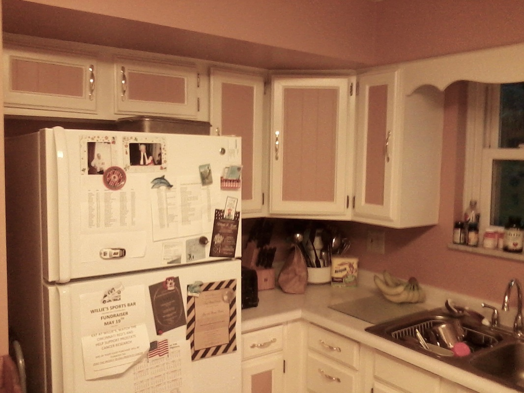 Paint Kitchen Cabinets Before and After Duck Egg Blue