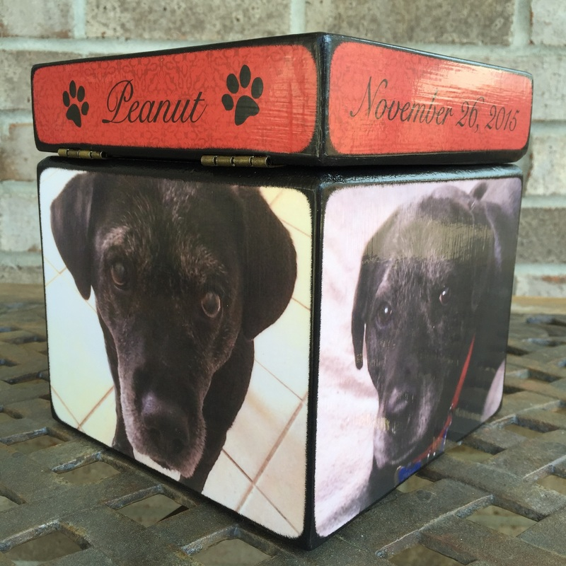 Wooden Pet Urn with Photo