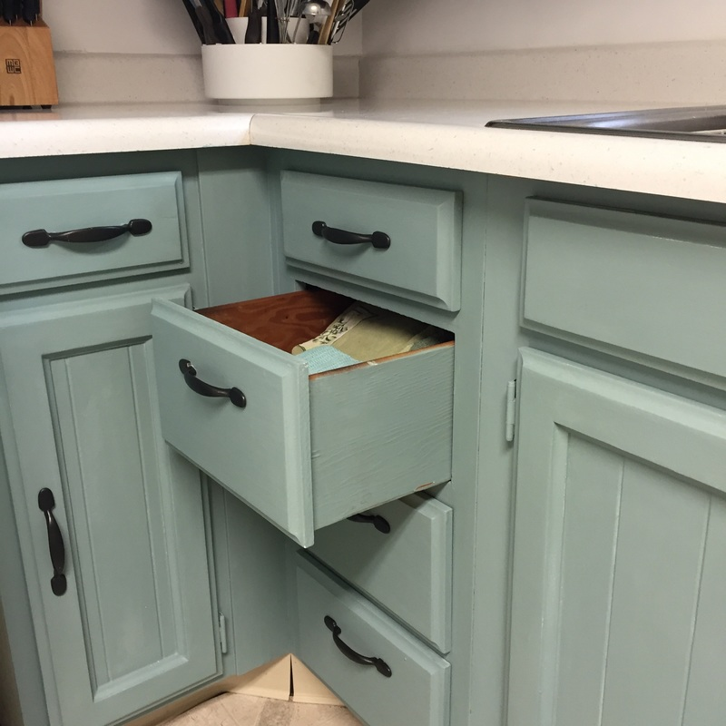 Refinished Kitchen cabinets with no sanding