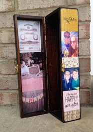 Personalized Wine Box with photo's and quotes