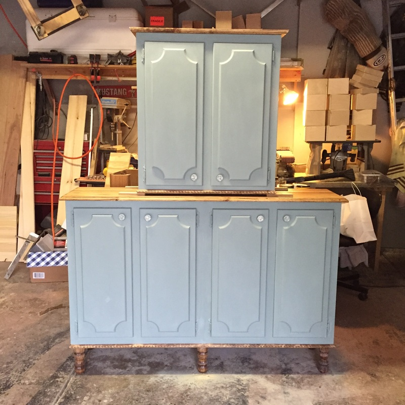 repurposed furniture in duck egg blue