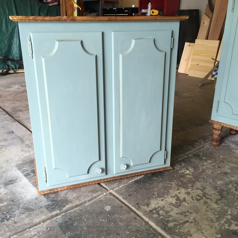 Repurposed Kitchen Cabinets with Annie Sloan Chalk Paint