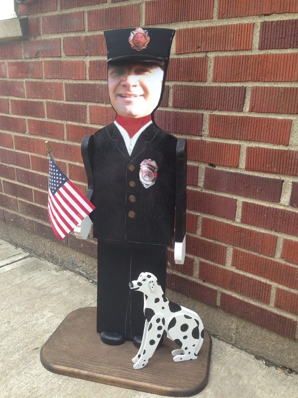 Personalized Fireman Standee
