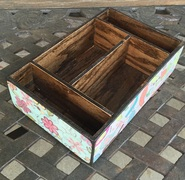 custom made wood trays for storage with dividers