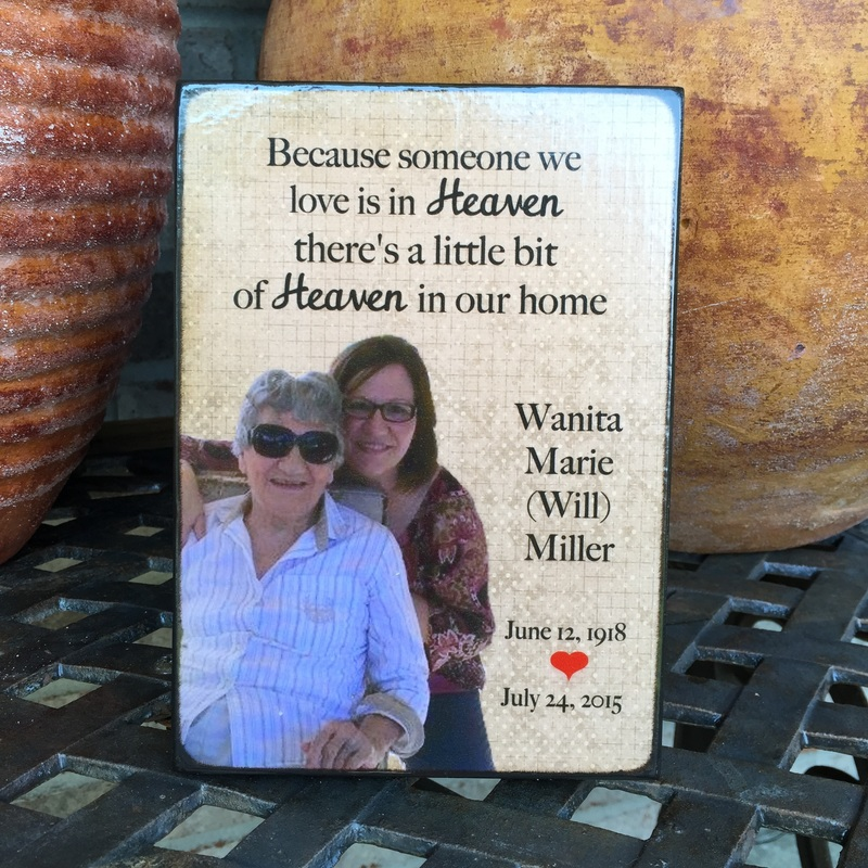 Heaven Personalized photo plaque