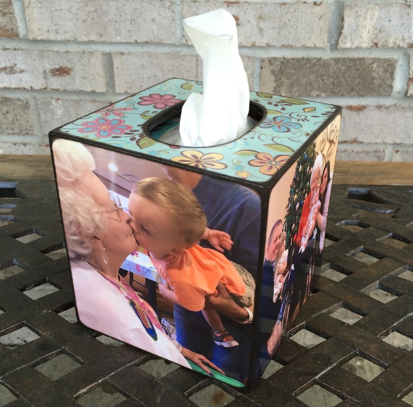 Custom Made Wood Tissue Box Cover
