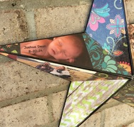 Wood Star personalized with photo's for baby