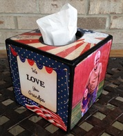 Personalized Wood Tissue Box Cover