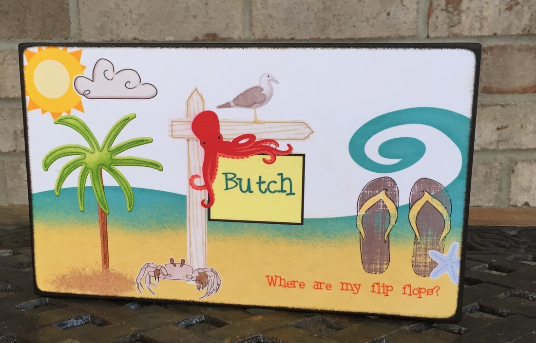 Custom made and personalized beach board