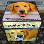 Personalized dog urns