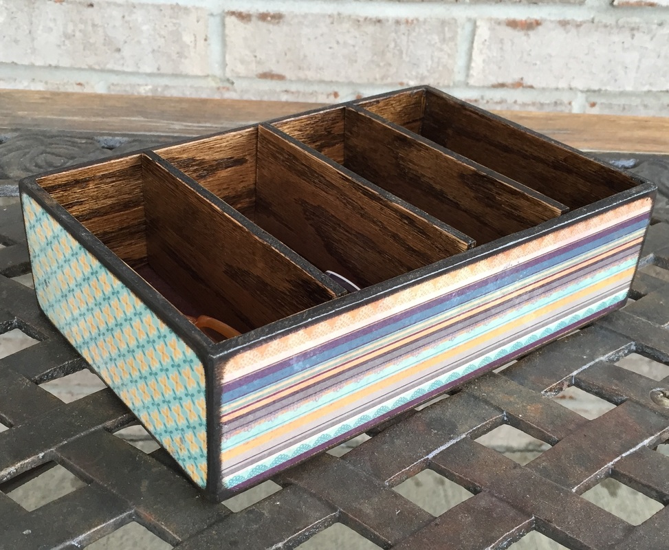 Custom made wood trays with dividers