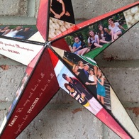 Wood Star personalized with photo's for family