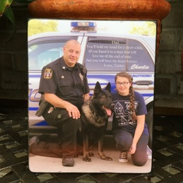 Police K-9 Photo for Father's Day Gift created by Blocks From The Heart