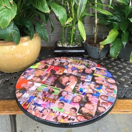 Lazy Susan custom made with your photo's created by Blocks From The Heart