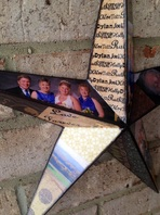 Wood Star personalized with photo's for wedding