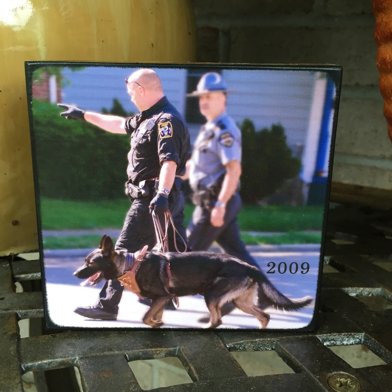 Police K-9 plaque created by Blocks From The Heart