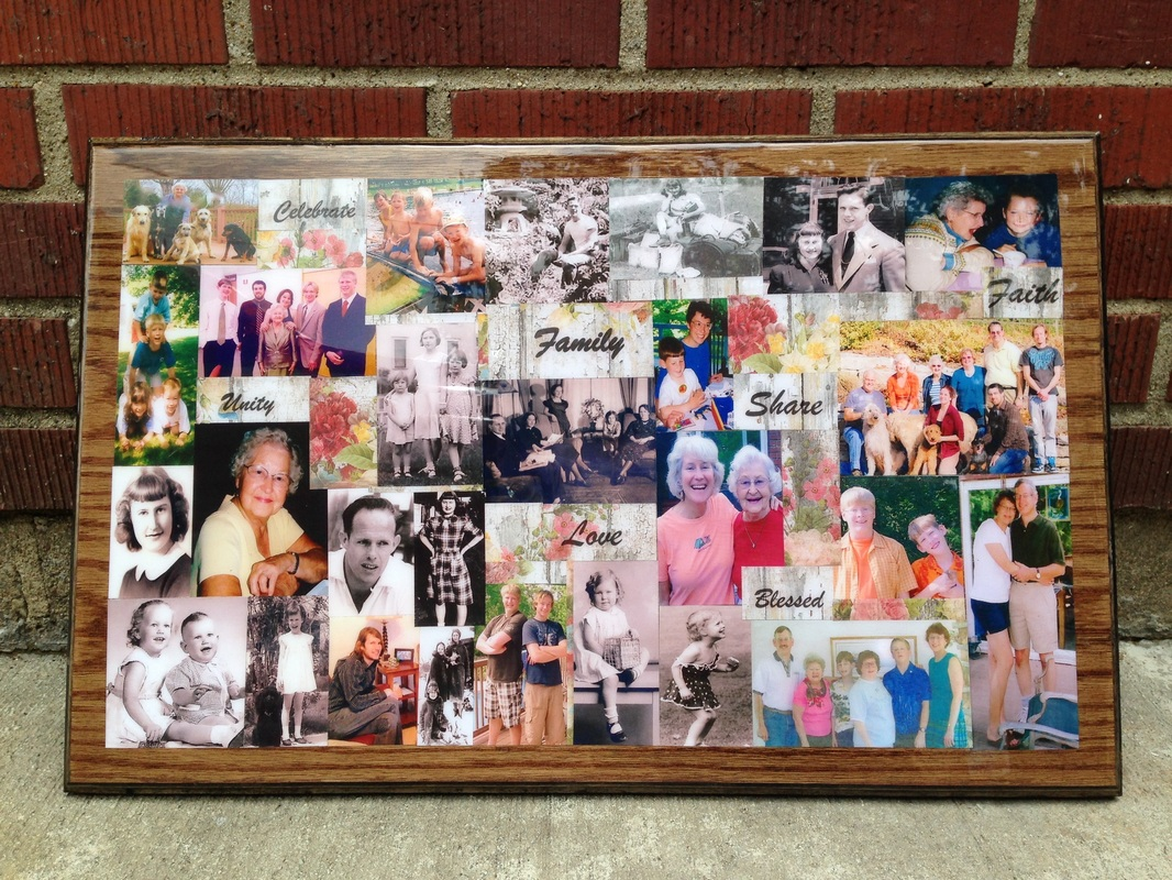 Custom made wood family collage