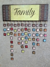 Personalized wood family birthday calendar