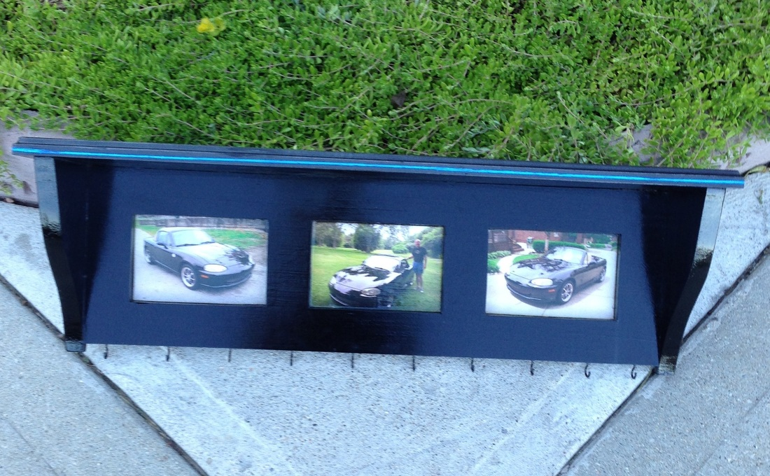 Custom Made personalized shelf for dad with cars