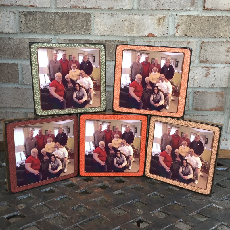 Family personalized photo plaque board