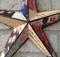 Wood Star personalized with photo's