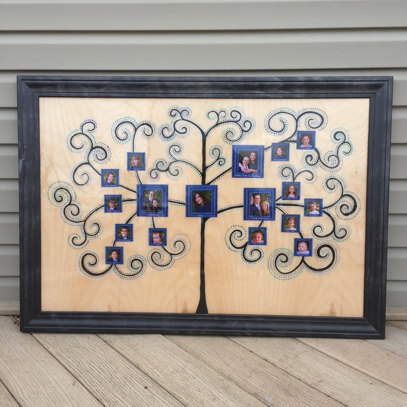 Personalized Family Tree Wall Hanging Art