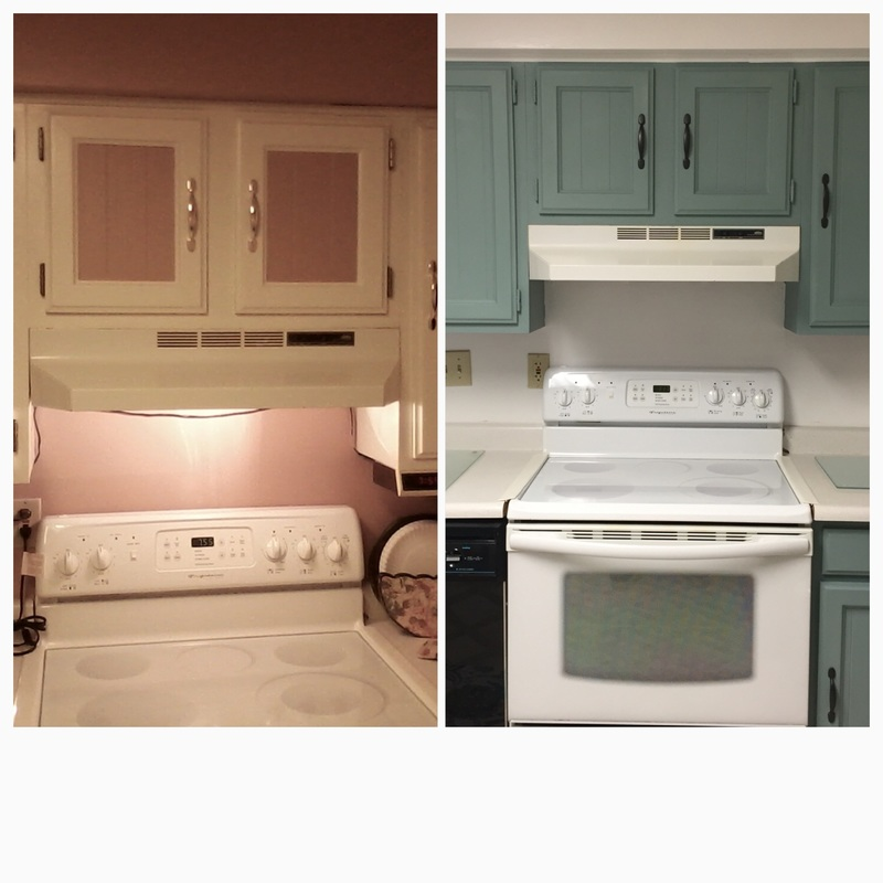 Kitchen Makeover on a budget before and after