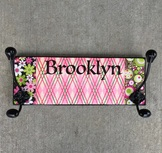 Girls coat rack personalized