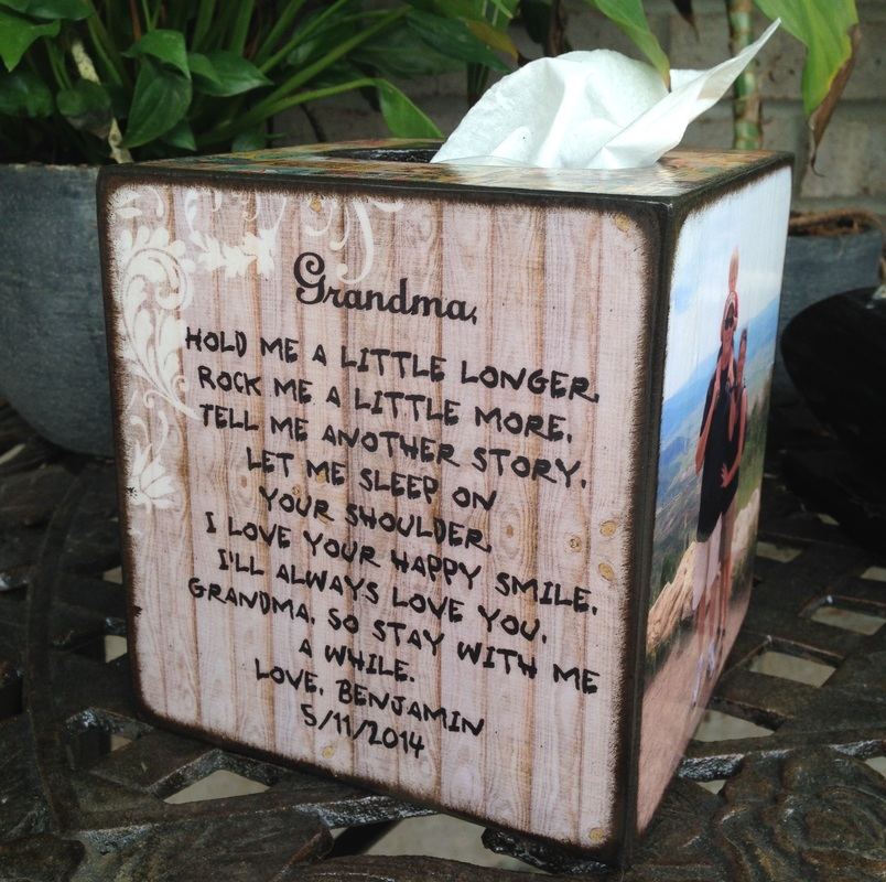 Grandma personalized Tissue Box cover