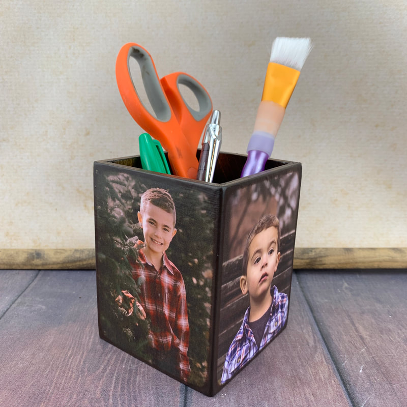 desk Organizer with photo
