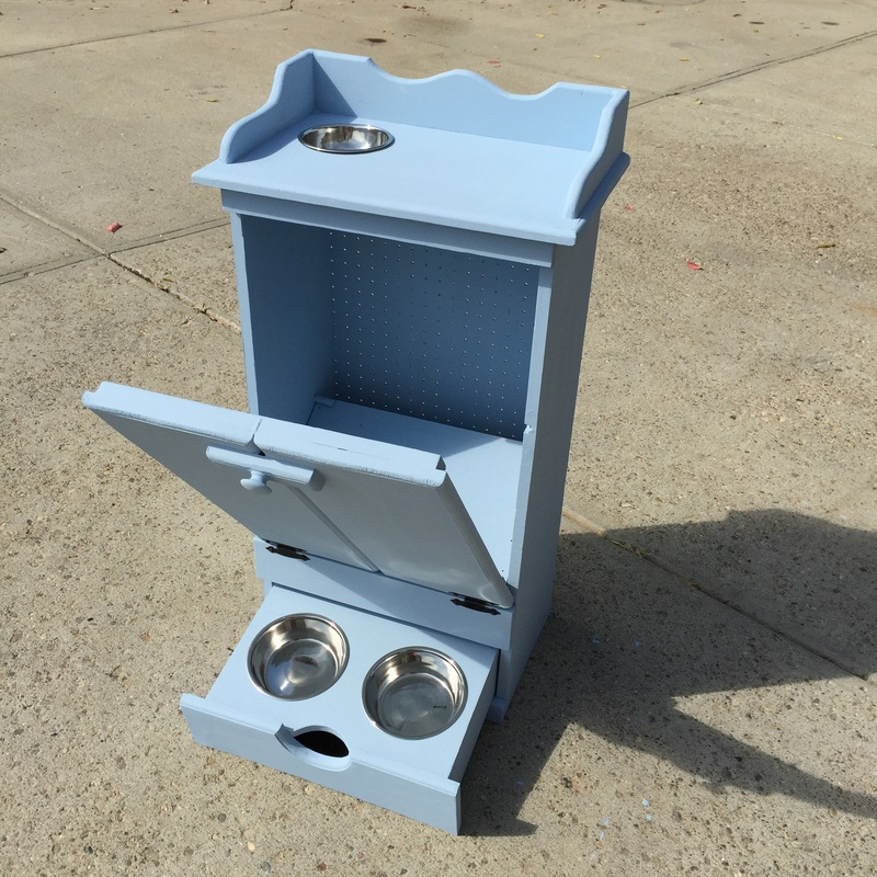 DIY Pet Feeding Station Cabinet