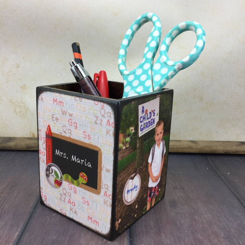 Personalized pencil holder for teacher