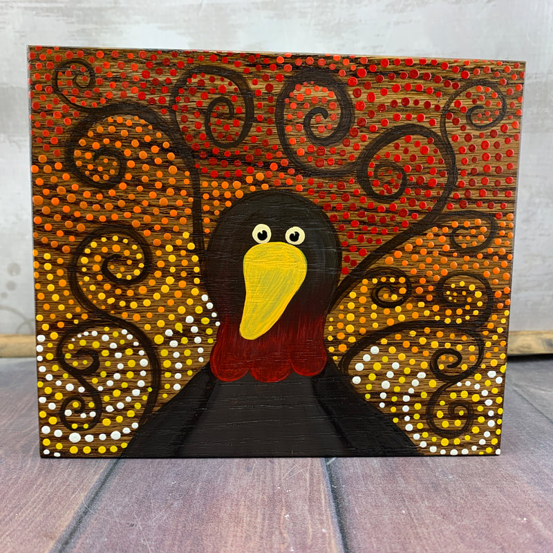 dot art turkey painting