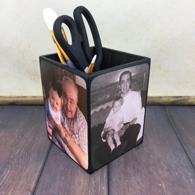 Personalized Grandfather's Day Pencil Holder Gift